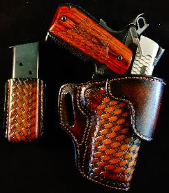 1911 holsters, best concealed carry holster maker, tooled leather