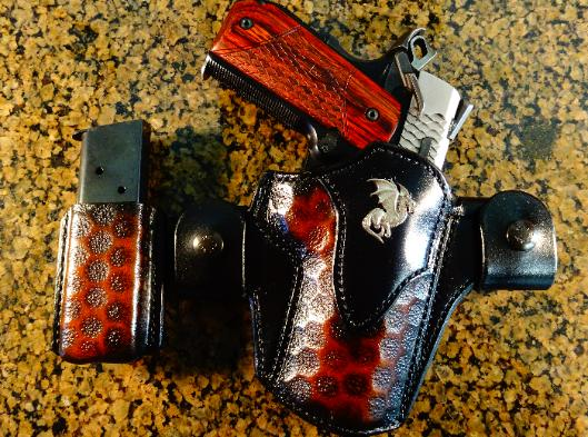 Handmade leather concealment holsters