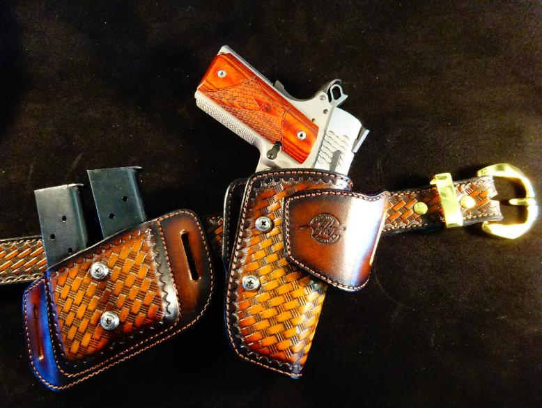 Custom leather concealed carry holsters
