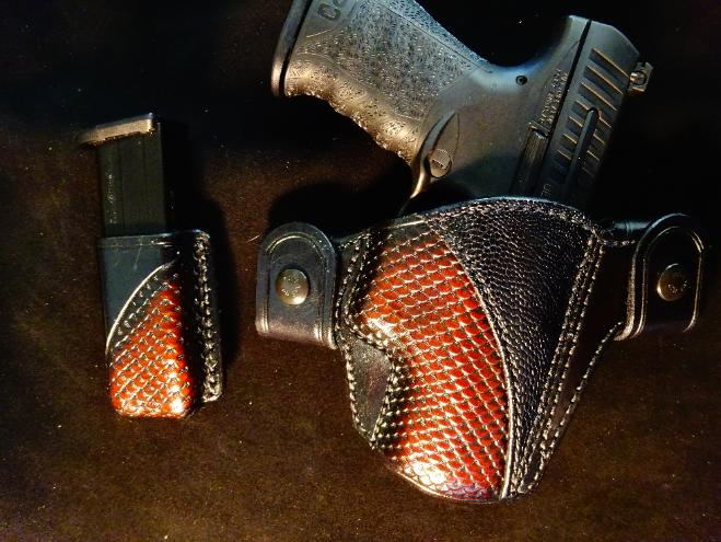 Exotic leather concealment holster