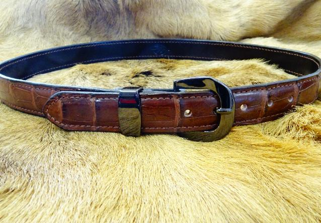 exotic leather belts